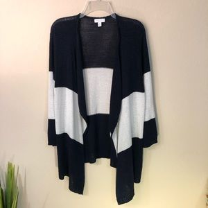 Charter Club   Navy & White Open front Cardigan
